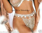 Chain panties lingerie metal gold thong panty medieval gothic tribal showgirl