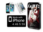BUY 2 GET 1 FREE Lebron James Miami Heat Super Star iPhone 5 5s Hard Case Cover