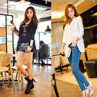HOT Women Long Sleeve Slim Fit Chiffon Suit Button Casual Jacket Blazer Coat