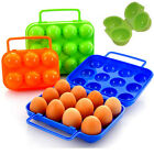 Portable Egg Boxes  Storage Carrier Folding Plastic for Hiking Outdoor Camping