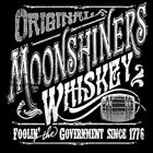 Original Moonshine Whiskey Foolin The Government HOODIE L TO 4X BLACK