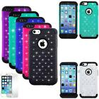 """Phone Case For iphone 6s 6 (4.7"""") Rugged Cover Dual Layered Crystal Screen Guard"""
