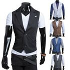 Fashion Men's Top Designed Casual Slim Fit Skinny Dress Vest Waistcoat Styllish