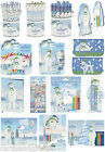 The Snowman & The Snowdog Stationery Set Pen Pencil Notepad Crayons Stamper