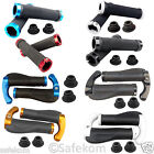Mountain BMX MTB Bicycle Cycling Double Lock On Locking Rubber Handle Bar Grips