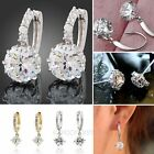 Fashion Women's Crystal Rhinestone 925 Sterling Silver Ear Stud Earrings Jewelry