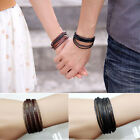 1XLeather Braided Rope Bracelet for Men and Women Fashion Man Jewelry Nice