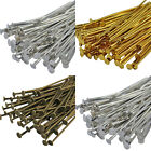 250x40mm 200x50mm Bronze, Gold & SILVER PLATED Metal Flat HEAD PINS - Headpins