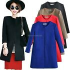 Korea Women Warm Cashmere Long Sleeve Coat Trench Overcoat Jacket Parka Cardigan