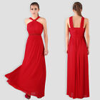 Elegant Sleeveless Halter Prom Wedding Party Bridesmaid Sexy Evening Maxi Dress