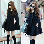 3 Size Fashion Women's Batwing Cape Wool Poncho Jacket Winter Warm Cloak Coat J