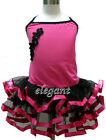Hot Pink Children Kids Flower Girls Ballet Dance Dress Leotard Tutu Skirt 1-9 Yr