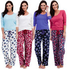 Womens Warm Fleece Winter PJ Pyjama Set Night Wear PJ's Pyjamas Sets Ladies