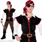 Boys TEEN Rebel Of The Sea Pirate Fancy Dress Party Costume - Age 12-16
