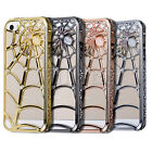NEW DIAMOND BLING METAL ALUMINUM COBWEB BUMPER CASE COVER FOR APPLE IPHONE 5G 5S