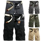 New Mens Casual Summer Cargo Combat Work Shorts Half Pants Cotton 5 Colors