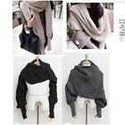 Unisex Winter Warmer Knitting Wool Scarf With Sleeve Soft Wrap Shawl Scarves S