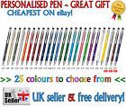 Cheapest PERSONALISED PEN great gift teacher,mum, dad 27 colours METAL BALLPOINT