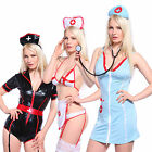 Sexy Womens Nurse Hen Night Party Costume Outfit / Role Play Dress Lingerie