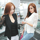 1PC Sexy Women Long Sleeve Lace Crochet Blazer Small Blazer Jacket Vogue