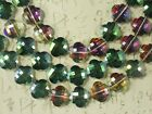 15 Crystal Beads Pink Rose Gold Violet Clear AB Green Faceted Lantern 18mm #C359