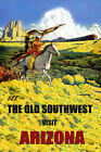 Indian Horse Arizona American West Train Travel Vintage Poster Repro FREE SHIP