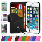 Book Flip Wallet Leather Case Cover Pouch For APPLE iPhone 6 6 Plus 5 5S 5c 4 4S