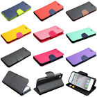 Dual Color Deluxe Wallet Card Leather Flip TPU Case For Apple iPhone 6 & 6 Plus