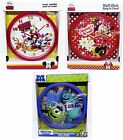 DISNEY WALL CLOCK - Range of Characters - Children Plastic Bed Room Home