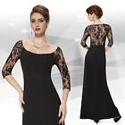 Ever Pretty Half Lace Sleeves See Through Back Evening Prom Dress 08311