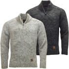 Kensington Mens Half Zip Cable Stitch Jumper Knitwear New S M L XL