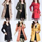 Fashion Women's Slim Lace Coat Outwear Windbreak Windcoat Top Jacket with Belt