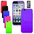"""For Apple iPhone 6 4.7"""" Soft Silicone Rubber Skin Cover Case+Screen Protector"""