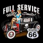 Full Service Drive In Rat Rod Hot Rod Route 66 Pocket Tee T Shirt