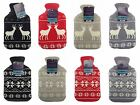 Christmas Knitted Hot Water Bottle, Xmas Nordic Designs