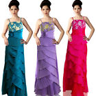 Mother of Bride Embellish Wrap Layer Evening Formal Gown evening Occasion Dress