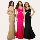 Sexy Stretchy Evening Cocktail Occasion Prom Bridesmaid Party Maxi Dress Bling