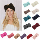 2015 Women Crochet Headband Bow Knit Winter Headwrap Ear Warmer hairband Hot