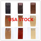 USA STOCK! 15 inch Double Drawn Clip In Extensions,8pcs & 100g 3-5 days delivery