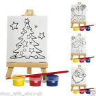 Mini PAINT Your Own Easel Art Set CHRISTMAS Childrens Craft Kit Stocking Filler