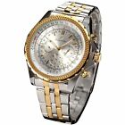 KS Imperial Men's Day Date Stainless Steel Army Automatic Mechanical Wrist Watch