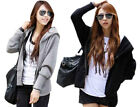 New Women's Loose Hooded Sports Coat Jacket Autumn Winter Tops Casual Good Hot