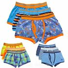 9 Pairs Boys Trunk Fit Boxers Monster, Bright Neon & Stripe Designs Briefs