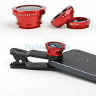 Clip 3 in 1 Camera Fish eye Macro Wide Angle Selfie Lens Kits For Smart Phone