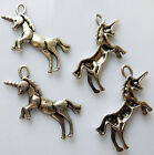 ANTIQUE SILVER TONE UNICORN CHARMS/PENDANTS 34mm x 16mm- 10 or 20-Mythic-Fantasy