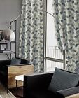 Eyelet Lined Curtains, Luxury Chenille Readymade Ringtop, Eden, Teal