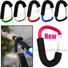 x2 Coloured Large Buggy Mummy Clip Pram Pushchair Shopping Bag Hook Carabiner