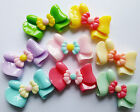 5 BOW RIBBON FLAT BACK CABOCHONS RESIN 37mm x 22mm-Decoden Crafts-Fashion