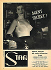 PUBLICITE ADVERTISING 114  1959  STAR  soutien gorge