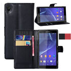 BOOKTYPE PU Leather Wallet Flip Case Stand Cover Skin For Sony Xperia Z3 D6653